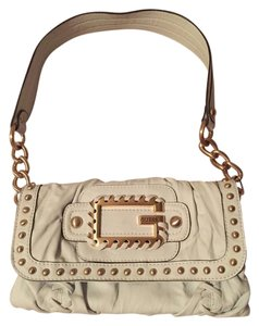 Guess By Marciano Removable Strap Clutch Gold Hardware Shoulder Bag