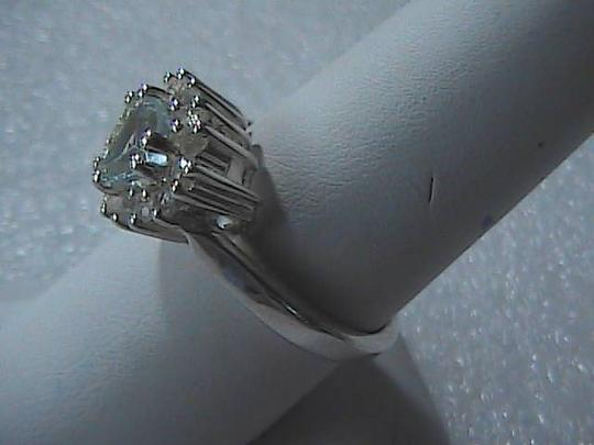 Pre-owned Sterling Silver Blue Topaz Heart Ring