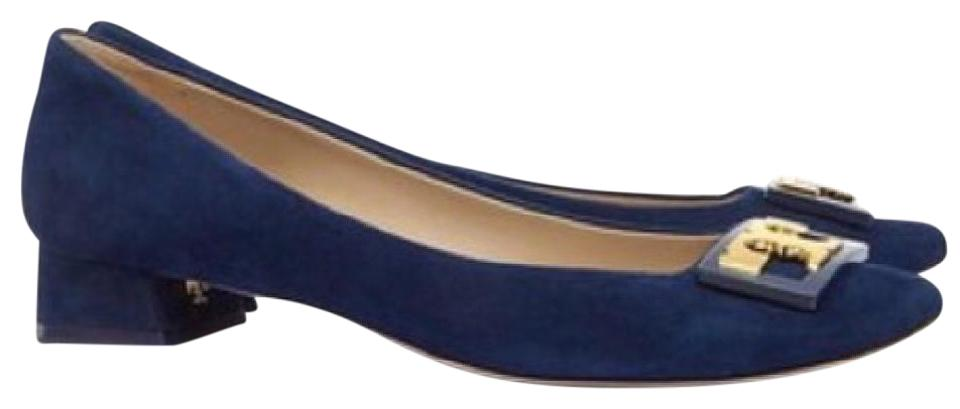 51e34ecfa59 Tory Burch Royal Navy Gigi Pumps Size US 7.5 Regular (M