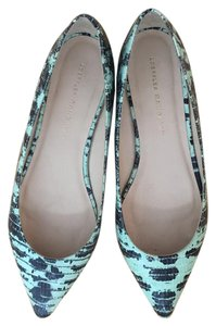 Loeffler Randall Flat Pointed Toe Leather Mint Flats