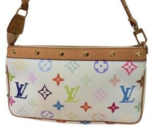 Louis Vuitton Rainbow Wristlet in White Multicolor Rainow Monogram