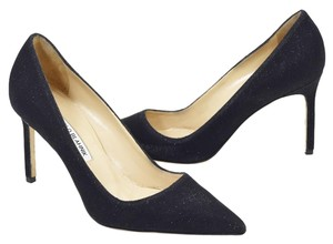 Manolo Blahnik BLACK GLITTER FABRIC Pumps