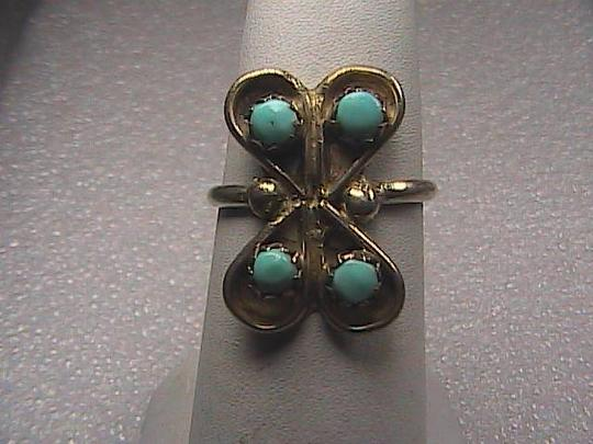 Vintage Sterling Silver Turquoise Ring Size