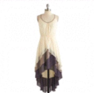 Cream, purple, tan Maxi Dress by Other