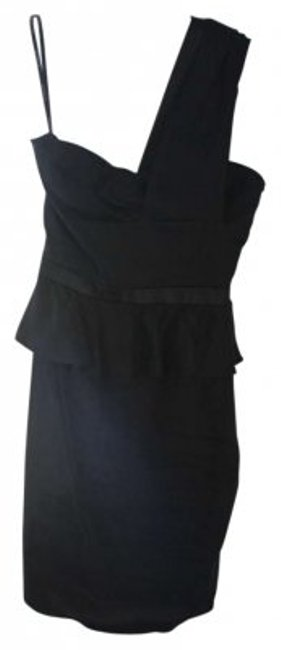 Preload https://item1.tradesy.com/images/bebe-black-peplum-formal-one-shoulder-above-knee-cocktail-dress-size-0-xs-165730-0-0.jpg?width=400&height=650