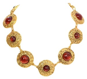 Chanel Chanel Amber Gripoix & Gold Collar Necklace