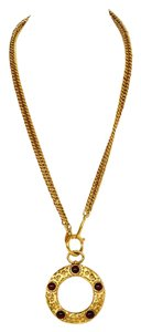 Chanel Chanel Gold & Gripoix Magnifying Glass Pendant Necklace