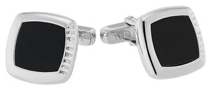Ted Baker Ted Baker Mamon square black shell cufflinks
