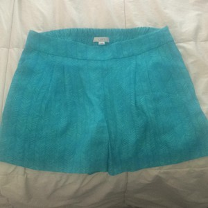 Ann Taylor LOFT Dress Shorts Deep turquoise, lighter greens