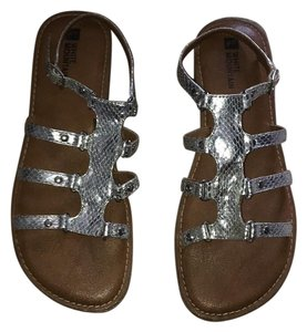 White Mountain Silver Sandals