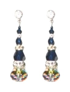 Giavan Giavan HOL593 (E-68) Indigo Crystal Earrings