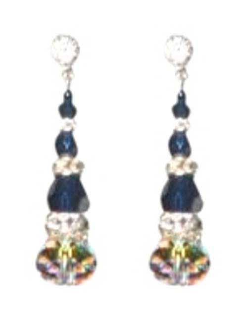 Giavan Indigo Hol593 (E-68) Crystal Earrings Giavan Indigo Hol593 (E-68) Crystal Earrings Image 1