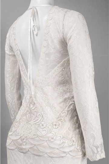 Sue Wong W4134 Art Deco Long Sleeve Wedding Dress