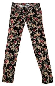 Free People Skinny Pants Floral/Black