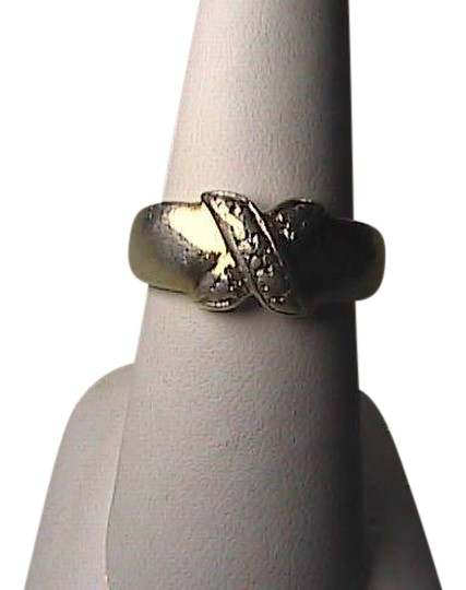 Preload https://item4.tradesy.com/images/sterling-silver-and-cz-x-cross-band-ring-1657448-0-0.jpg?width=440&height=440