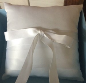 Cathy's Concepts White Ring Bearer Pillow