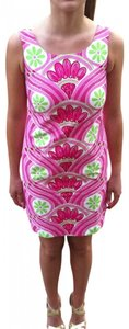 Lilly Pulitzer short dress pink with white and lime green on Tradesy
