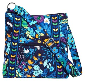 Vera Bradley Floral Quilted Blue Cross Body Bag