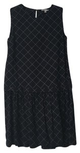 Uniqlo short dress Navy blue and grey Cross Hatch Drop Waist on Tradesy