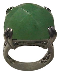 Sterling Silver Green Jade Ring