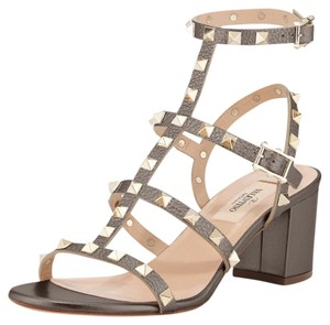 Valentino Sandal Leather SASSO, metallic gold Sandals
