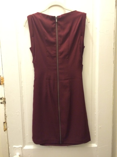 Express Maroon Bridesmaid Strapless Formal Dress