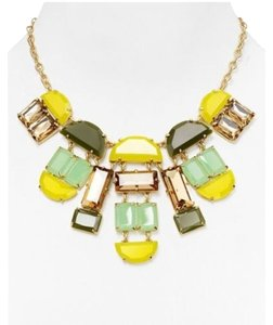 Kate Spade NWT Kate Spade Varadero Tile Necklace 12K Gold Plated MSRP $228 Geo-Cool!