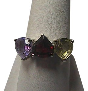 Unknown 3.37 carats Sterling Silver Multi Color Gem Stone Ring