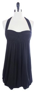BCBGMAXAZRIA Babydoll Empire Halter Mini Dress