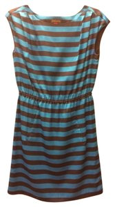 Vince Camuto short dress Blue Silk Day Stripe on Tradesy