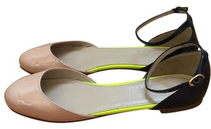 J.Crew Nude, navy, lime Flats