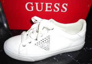 Guess Gently Used Leather Sneakers White Athletic