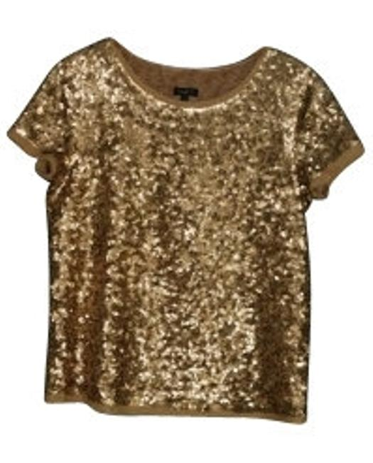 Preload https://img-static.tradesy.com/item/16576/talbots-golden-sequin-night-out-top-size-2-xs-0-0-650-650.jpg