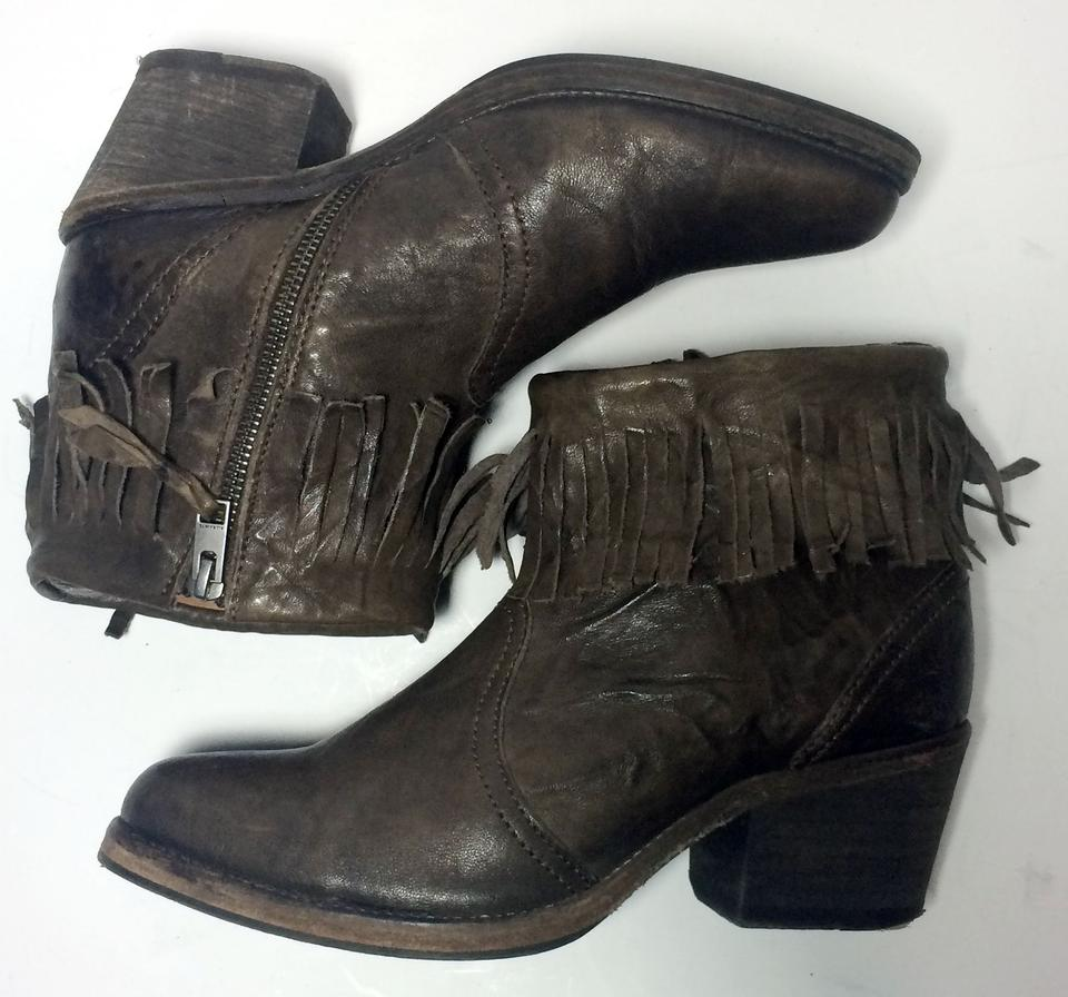 8b3531b29f0ef AllSaints Brown Bonny Cuban Leather Ankle Fringe Women's Boots/Booties Size  US 9.5 Regular (M, B) - Tradesy