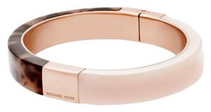 Michael Kors Michael Kors MKJ5268 Color Block Blush/Tortoise Hinged Bangle Bracelet