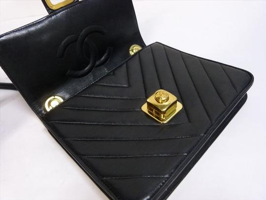 Chanel Chevron Lambskin Quilted Leather Classic Cross Body Bag