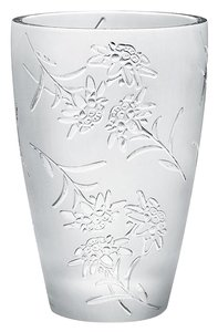 Lalique New in Box Large Lalique Edelweiss Vase