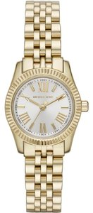 Michael Kors Michael Kors Women's Petite Lexington Gold-Tone Stainless Steel Bracelet Watch 26mm