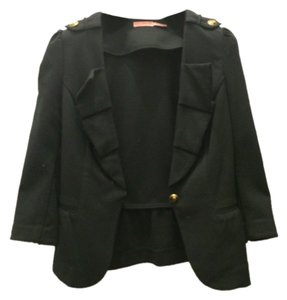 Juicy Couture Cotton Casual Day Office Work Classic Black Blazer