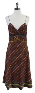 Catherine Malandrino Striped Cotton Spaghetti Strap Dress