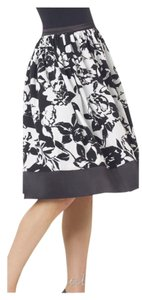 Spiegel Floral Duster A-line Skirt Black & White
