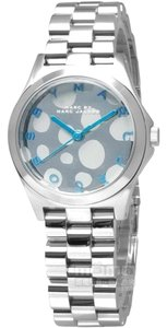 Marc By Marc Jacobs Marc by Marc Jacobs Henry Silver Tone Blue Accent Watch