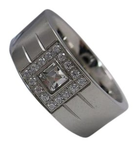 Men's Ring in Stainless Steel Size 12 w Free Shipping