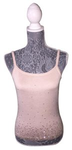 Ann Taylor Sequin Top Soft pink