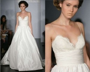 Amsale Ivory Silk Taffeta Ball Gown with Alencon Lace Bust Coco Feminine Wedding Dress Size 4 (S)