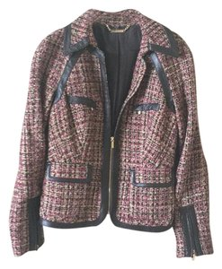 bebe Multicolor. Brown, burgendy, and gold Blazer