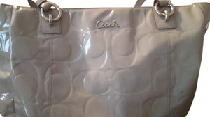 Coach Tote in Silver/light grey