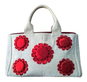 Prada Tote in Beige and Red