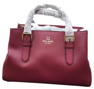 Kate Spade Satchel in Bacchus Red
