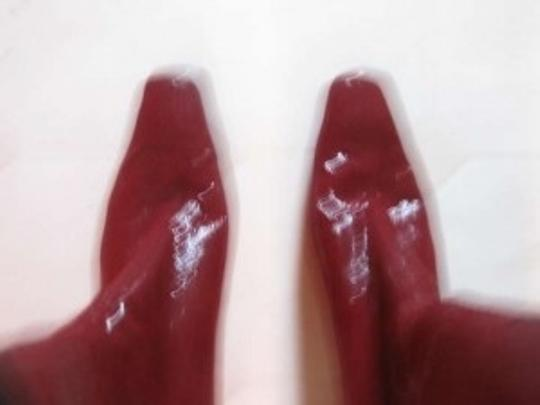 Stuart Weitzman Patent Leather 2 1/2 In Heel red Boots